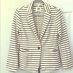 Old Navy jacket / blazer - White / black stripes S